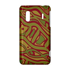 Brown abstract art HTC Evo Design 4G/ Hero S Hardshell Case