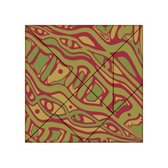 Brown abstract art Acrylic Tangram Puzzle (4  x 4 )