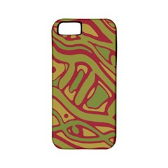 Brown abstract art Apple iPhone 5 Classic Hardshell Case (PC+Silicone)