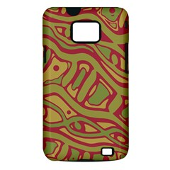 Brown abstract art Samsung Galaxy S II i9100 Hardshell Case (PC+Silicone)