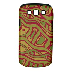 Brown abstract art Samsung Galaxy S III Classic Hardshell Case (PC+Silicone)