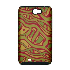 Brown abstract art Samsung Galaxy Note 2 Hardshell Case (PC+Silicone)