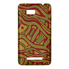 Brown abstract art HTC One SU T528W Hardshell Case