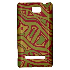 Brown abstract art HTC 8S Hardshell Case