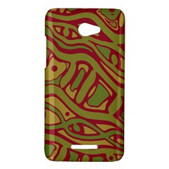 Brown abstract art HTC Butterfly X920E Hardshell Case