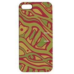 Brown abstract art Apple iPhone 5 Hardshell Case with Stand