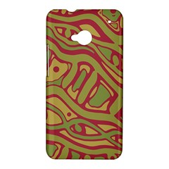 Brown abstract art HTC One M7 Hardshell Case