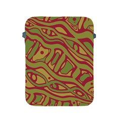 Brown abstract art Apple iPad 2/3/4 Protective Soft Cases