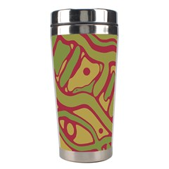 Brown abstract art Stainless Steel Travel Tumblers