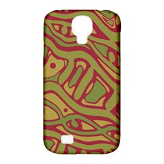 Brown abstract art Samsung Galaxy S4 Classic Hardshell Case (PC+Silicone)