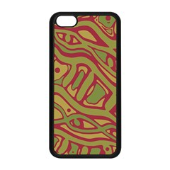 Brown abstract art Apple iPhone 5C Seamless Case (Black)
