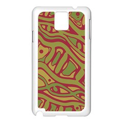 Brown abstract art Samsung Galaxy Note 3 N9005 Case (White)