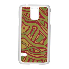 Brown Abstract Art Samsung Galaxy S5 Case (white)