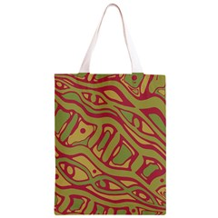 Brown abstract art Classic Light Tote Bag