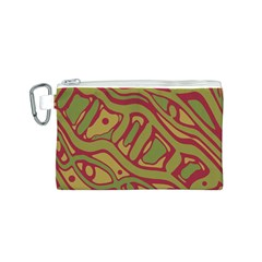 Brown abstract art Canvas Cosmetic Bag (S)