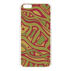 Brown abstract art Apple Seamless iPhone 6 Plus/6S Plus Case (Transparent)