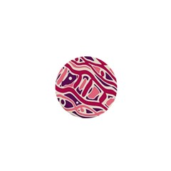 Pink and purple abstract art 1  Mini Buttons