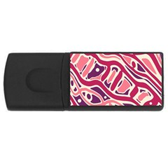 Pink and purple abstract art USB Flash Drive Rectangular (1 GB)