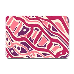 Pink and purple abstract art Small Doormat