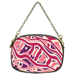 Pink and purple abstract art Chain Purses (Two Sides)