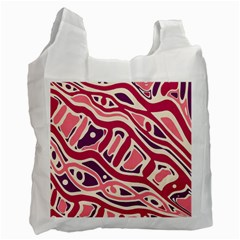 Pink and purple abstract art Recycle Bag (Two Side)