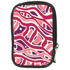 Pink and purple abstract art Compact Camera Cases