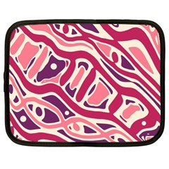 Pink and purple abstract art Netbook Case (XL)