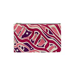 Pink and purple abstract art Cosmetic Bag (Small)
