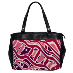 Pink and purple abstract art Office Handbags