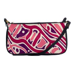 Pink and purple abstract art Shoulder Clutch Bags