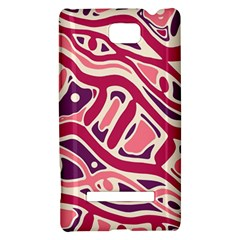 Pink and purple abstract art HTC 8S Hardshell Case