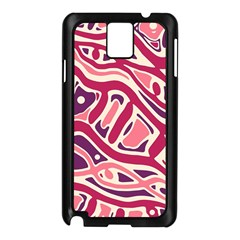 Pink and purple abstract art Samsung Galaxy Note 3 N9005 Case (Black)