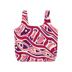 Pink and purple abstract art Full Print Recycle Bags (S)