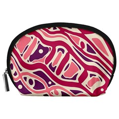 Pink and purple abstract art Accessory Pouches (Large)