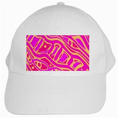 Pink abstract art White Cap
