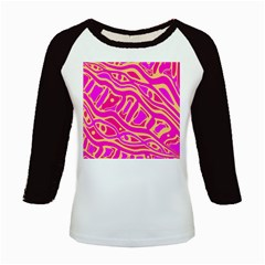 Pink abstract art Kids Baseball Jerseys