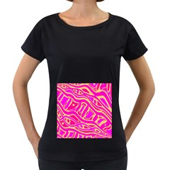 Pink abstract art Women s Loose-Fit T-Shirt (Black)