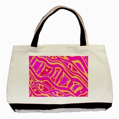 Pink abstract art Basic Tote Bag