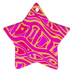 Pink abstract art Star Ornament (Two Sides)