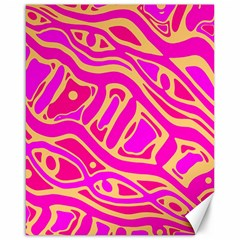 Pink abstract art Canvas 16  x 20