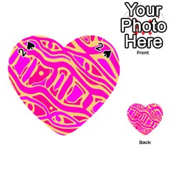 Pink abstract art Playing Cards 54 (Heart)