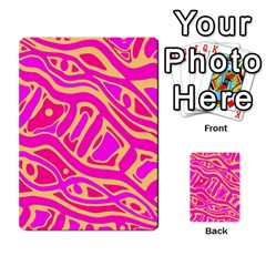 Pink abstract art Multi-purpose Cards (Rectangle)