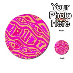 Pink abstract art Multi-purpose Cards (Round)