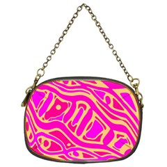 Pink abstract art Chain Purses (One Side)
