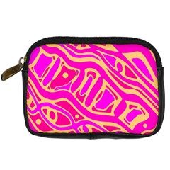 Pink abstract art Digital Camera Cases