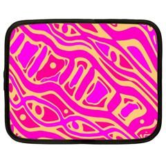 Pink abstract art Netbook Case (XXL)