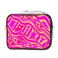 Pink abstract art Mini Toiletries Bags