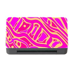 Pink abstract art Memory Card Reader with CF