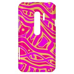 Pink abstract art HTC Evo 3D Hardshell Case