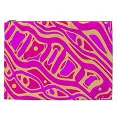 Pink abstract art Cosmetic Bag (XXL)